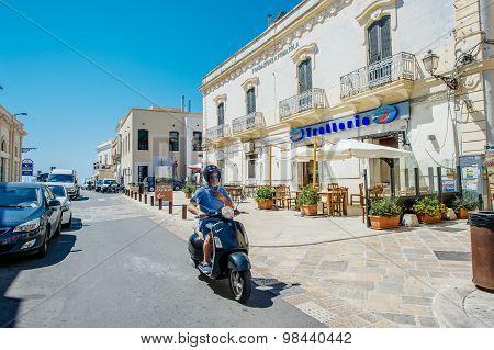 Gallipoli in Apulia, Italy