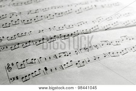 Music sheet background