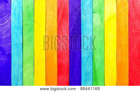 Abstract Rainbow Wood Fence