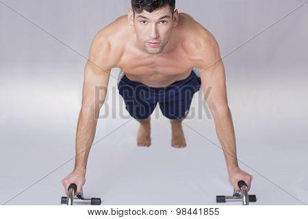 Man push ups