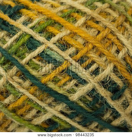 colorful hemp rope texture for creative design