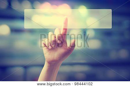 Hand Pressing A Digital Button
