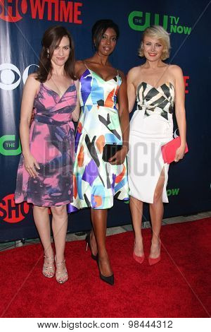 LOS ANGELES - AUG 10:  Maggie Siff, Condola Rashad, Malin Akerman at the CBS TCA Summer 2015 Party at the Pacific Design Center on August 10, 2015 in West Hollywood, CA