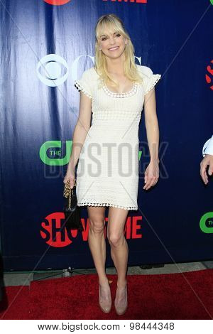 LOS ANGELES - AUG 10:  Anna Faris at the CBS TCA Summer 2015 Party at the Pacific Design Center on August 10, 2015 in West Hollywood, CA