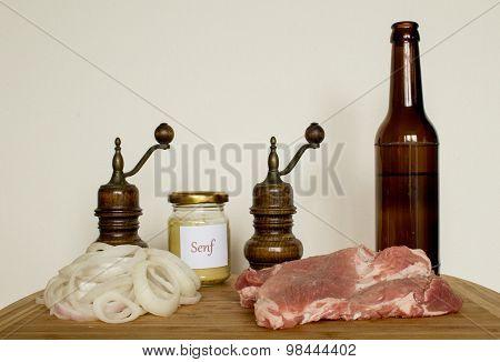 Thuringian barbeque steak