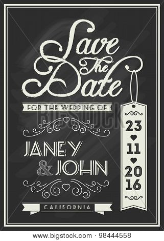 Save The Date Card Template Design