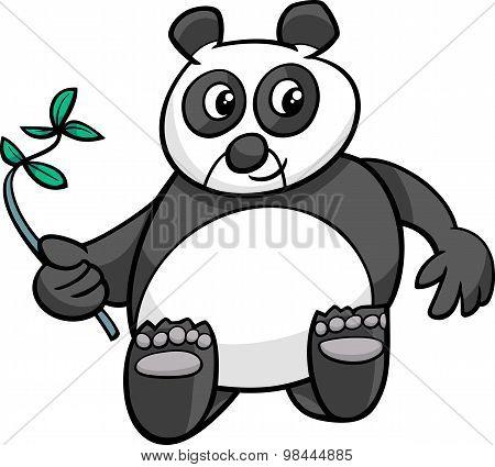Giant Panda Cartoon Illustration