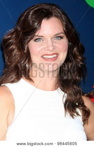 LOS ANGELES - AUG 10:  Heather Tom at the CBS TCA Summer 2015 Party at the Pacific Design Center on August 10, 2015 in West Hollywood, CA