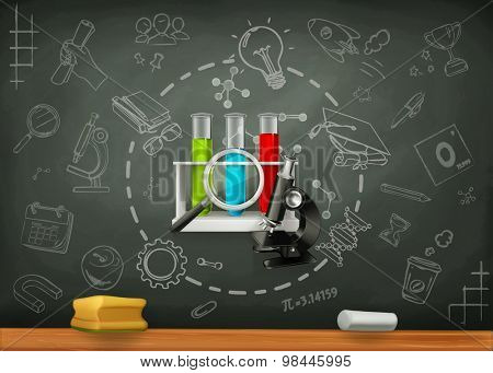 School and science, infographics vector background
