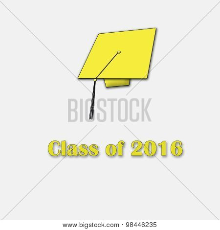 Class of 2016 Yellow on White Single Large