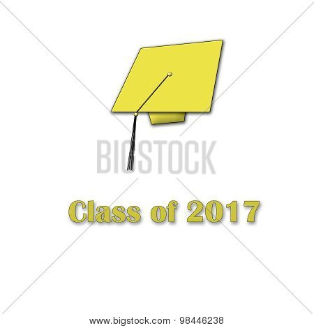Class of 2017 Yellow on White Single Large