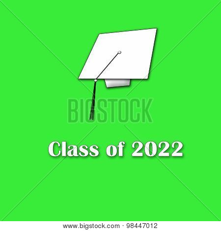 Class of 2022 White on Green Single Large