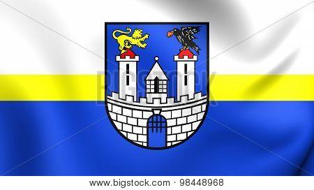 Flag Of Czestochowa City, Poland.
