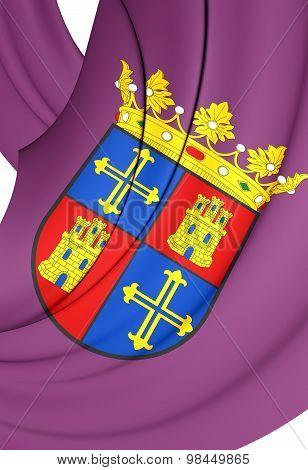 Flag Of Palencia City, Spain.
