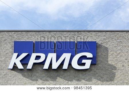 KPMG logo on a facade