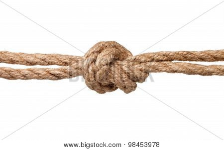 Rope Knot Isolated On A White Background