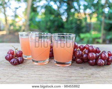 Grape Juice On The Table