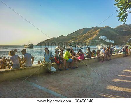 Taganga Boardwalk In Colombia
