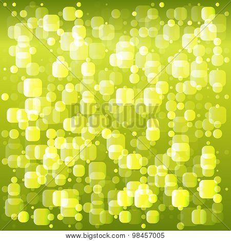 Spring Theme Dew Drops Mosaic Squares Background