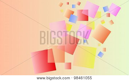 colorful translucent squares