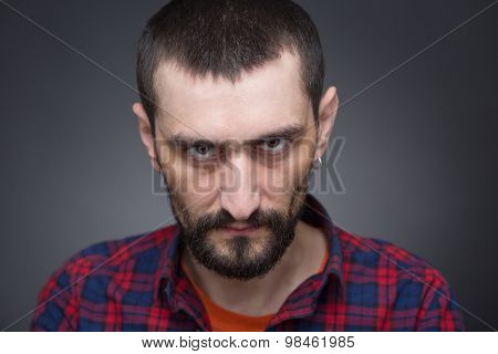 Hipster bearded man