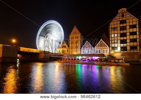 Ferris Wheel In Gdansk, Poland