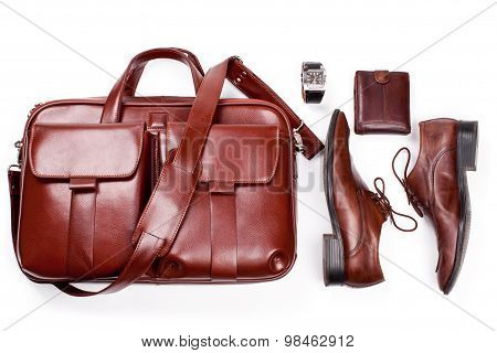 Man's Accessories Isolated