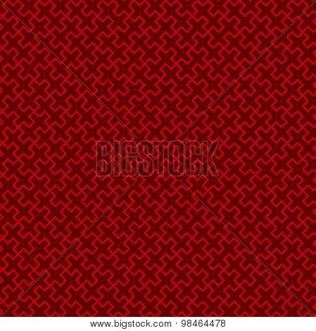 Seamless Chinese window tracery lattice cross square geometry line pattern.