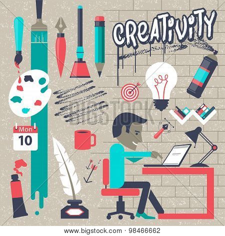 Creativity vector illustration concept
