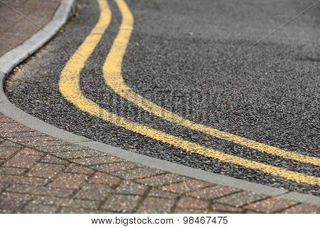 Footpath Pavement Sidewalk With Traffic Sign