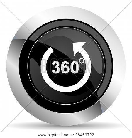 panorama icon, black chrome button