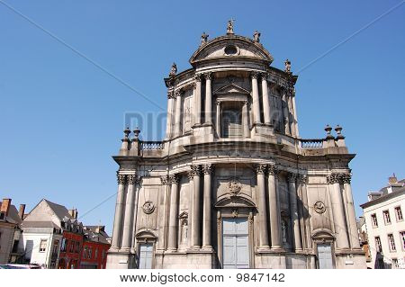 Detail Of A Old Architecture Church, Namur City, Belgium, Wallonia