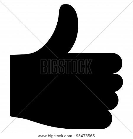 Thumb up icon from Basic Plain Icon Set