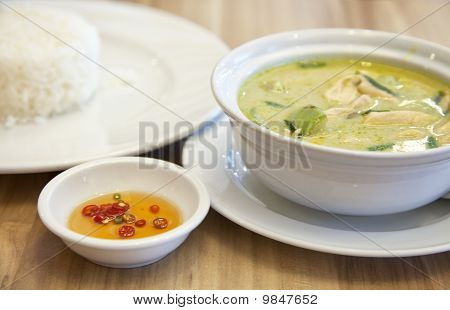 Green Curry With Rice