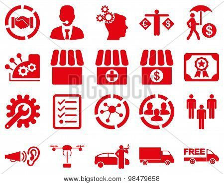 Business, trade, shipment icons.