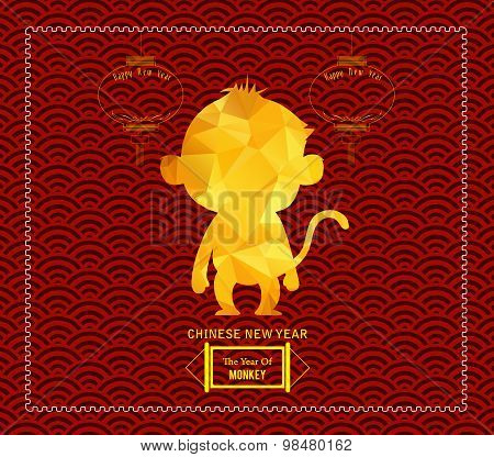 Year of monkey design for Chinese New Year celebration