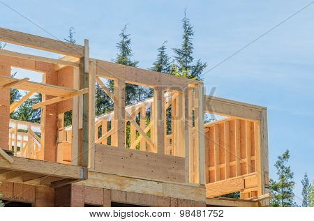 A new home under construction in Vancouver, Canada.