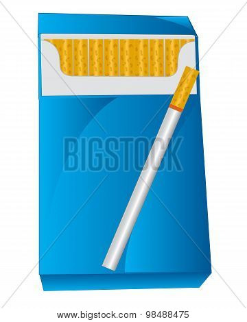 Pack with cigarette