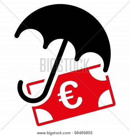 Financial insurance icon from BiColor Euro Banking Set