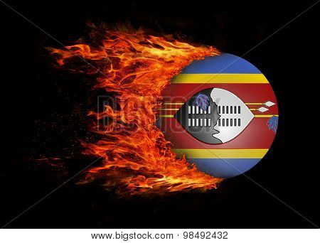 Flag With A Trail Of Fire - Swaziland