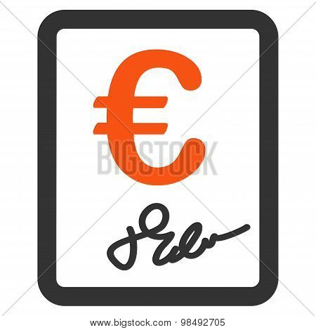 Contract icon from BiColor Euro Banking Set