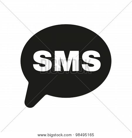 The sms icon. Text message symbol. Flat