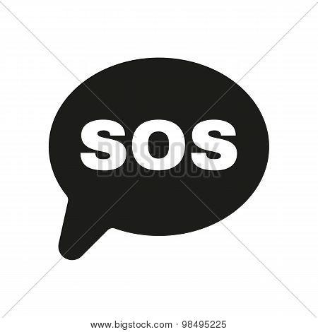 The sos icon. Help symbol. Flat