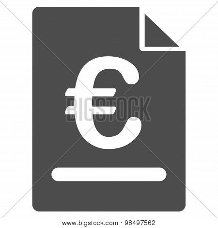 Invoice icon from BiColor Euro Banking Set
