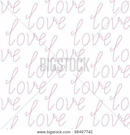Background With Love Lettering