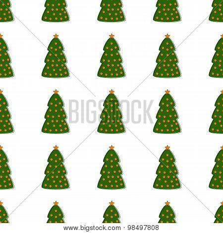 Pattern With Christmas Tree