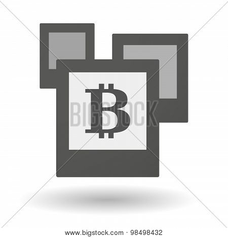 Isolated Group Of Photos With A Bit Coin Sign