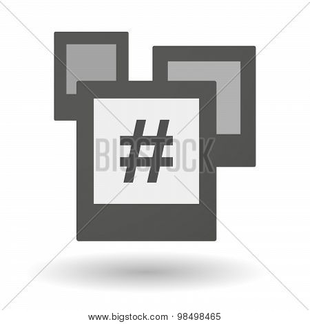 Isolated Group Of Photos With A Hash Tag
