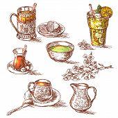Постер, плакат: Various Teas Set