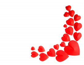 picture of groping  - Grope of Red Hearts shape on white background - JPG